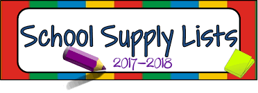 2017 - 2018 School Supply Lists